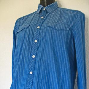 REACTION Kenneth Cole Men's Dark Blue Dress Shirt